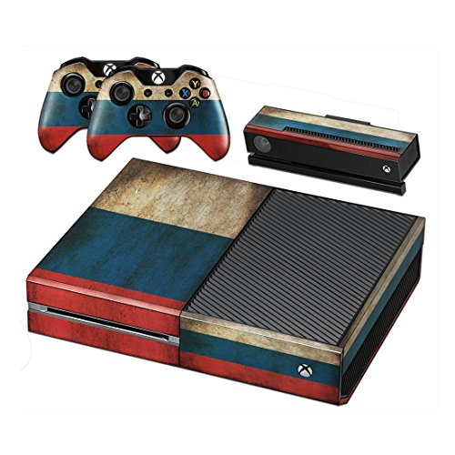 Stillshine Xbox ONE Design Folie Aufkleber für Konsole + 2 Controller + Kamera Sticker Skin Set (Flags Russia) (Xbox-1-spiele Dying Light)
