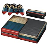 Xbox One Protective Vinly Skin Sticker Consola Decal Pegatinas + 2 Controlador & Kinect Skins Set (Flags Russia)