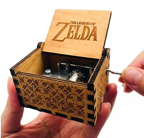 (Cuzit The Legend of Zelda Film Thema Antik Carved Musik Box Handkurbel aus Holz Spieluhr Spielzeug)