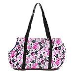 Pet Handbag Dog Canvas Carrier Bag Foldable Washable Travel Carrying Shoulder Bag for Small Medium Pets (S, White) 10