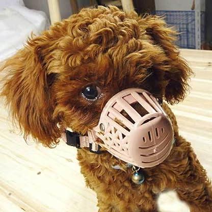 TOOGOO(R) Plastic Basket Adjustable Dog Muzzle Mask Cage Mouth Mesh (Size 5) 7