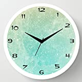 Cartoonpur 11 inches Analog Grunge Silent/Sweeping Movement Plastic Wall Clock with Glass