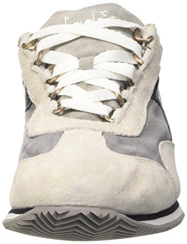 Diadora Equipe Stone Wash 12, Scarpe Low-Top Unisex-Adulto Bianco (White/Dk Smoke)