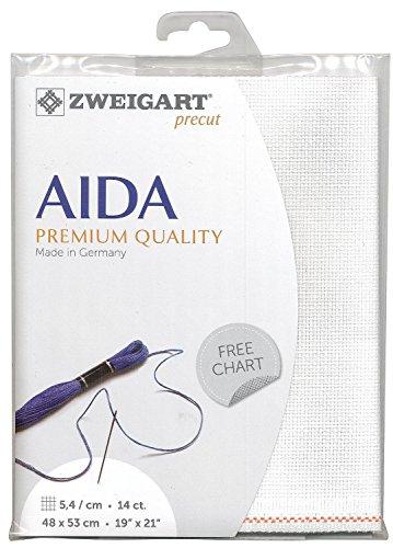 Zweigart Precut Stern-Aida col.101 Stoffzuschnitt, 48 x 68 cm (Kreuzstich Leinen Stoff)