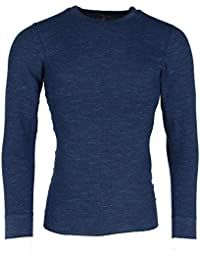 84194b7f0 Hanes Men's Waffle Knit Space Dyed Thermal Shirt Blue