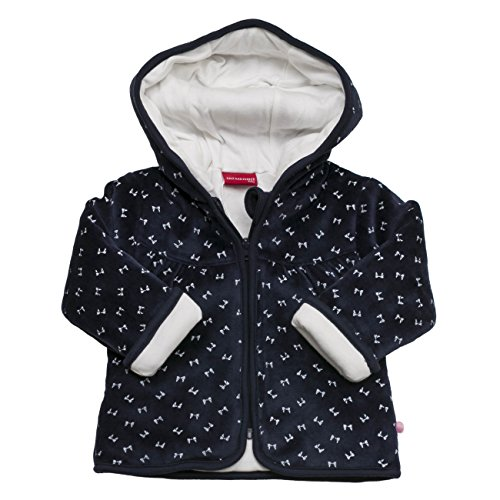 SALT AND PEPPER Baby-Mädchen Sweatshirt NB Jacket Love Allover Nicki, Blau (Cobalt 484), 68