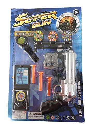 Inception Pro Infinite Spielzeugpistole - Polizist - 3 Saugnäpfe - Abzeichen - Uhr - Counter Strike Card - Swat - Ziele - Kind - Geschenkidee - ()