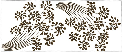 WALL STICKERS FLOCKED FLORAL (JAPAN IMPORT)