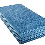 Gymnastikmatte Faltbar 180 cm PVC Frei, Blau oder Schwarz Yogamatte (Blau) Test