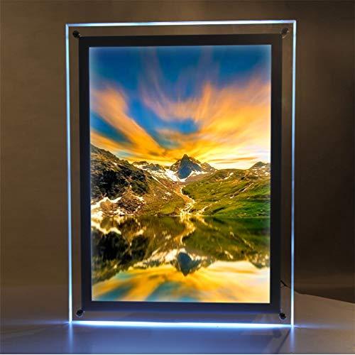 Marcos Fotos Cristal A3 Caja luz Iluminación LED