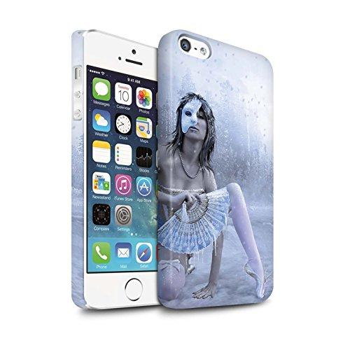 Officiel Elena Dudina Coque / Clipser Matte Etui pour Apple iPhone 5/5S / Balançoire Étang Design / Un avec la Nature Collection Masque d'Hiver