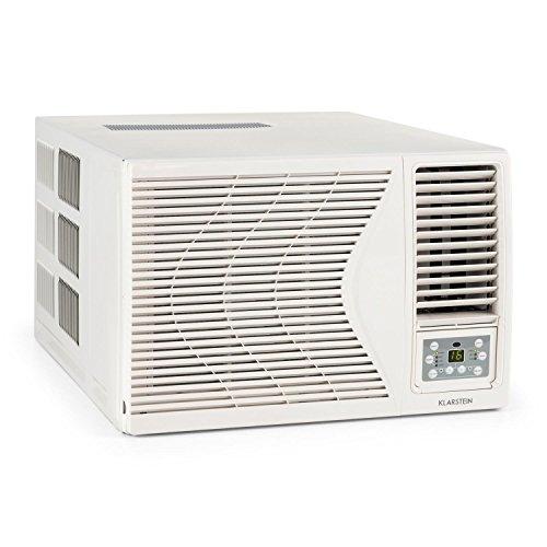 Klarstein Frostik 12 • Climatiseur fenêtre • Puissance de refroidissement de 12000 BTU • Températures réglables au choix entre 16 et 30 °C • Consommation économe pour une classe d'efficacité énergétique A • Ventilateur intégré à 4 niveaux • blanc