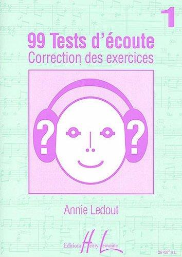 99 Tests d'Ecoute Volume 1 corrigés