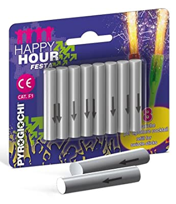8 x Cocktail Ice Fountain Swizzle Stick refills by Indoor Fireworks Ltd