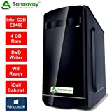 Sanaavay PC- Intel Core 2 Duo 3.0GHz Processor / 4GB Ram / Win 10 / 1TB Hard Disk / DVD / WiFi / IBall Cabinet