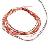 Smartfox 2m 20 LED USB Leuchtdraht Lichtdraht Micro Lichterkette Mini Leuchte ideal zur Deko in rot