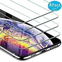 Beikell Vetro Temperato iPhone XS Max, [Pacco da 4] Pellicola Protettiva in Vetro Temperato per iPhone XS Max - Durezza 9H, Anti graffio, Senza Bolle, Alta Definizione, Facile da Pulire