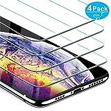 Beikell Verre Trempé iPhone XS Max, [Lot de 4] Film Protection d'écran en Verre Trempé Film Protecteur Vitre-Dureté 9H,2.5D Bord,sans Bulles,Anti-Rayures 6.5 Pouces-Compatible avec Coque et 3D Touch