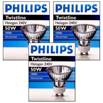 philips halogen gl hbirne 50w gu10 3 st ck k che haushalt. Black Bedroom Furniture Sets. Home Design Ideas