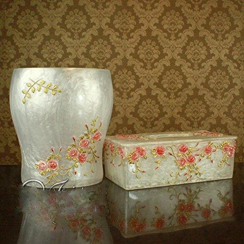 BBSLT Europeo di resina di moderne suite bagno wc set rose garden set di bianco di giada