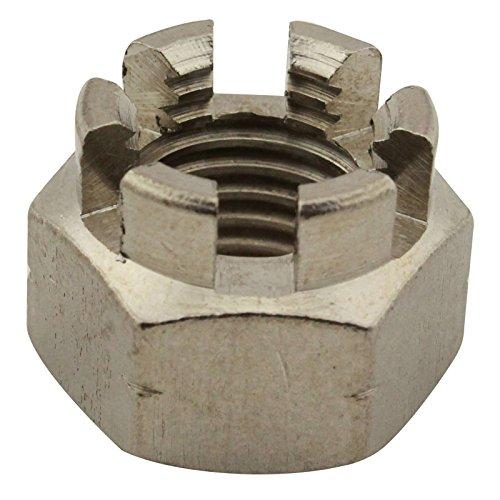 Kronenmuttern - M14 - ( 2 Stück ) - DIN 935 / ISO 7036 - rostfreier Edelstahl A2 (V2A) / NIRO - SC935 | SC-Normteile