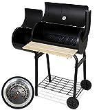 Broilmaster Grill, BBQ Grillwagen mit Feuerbox, schwarz, 113 x 102 x 62 cm, BBQS06