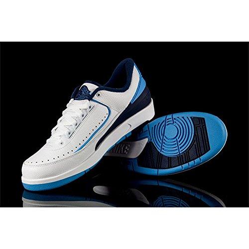 Nike Air Foamposite Pro, Chaussures de Sport-Basketball Homme, 41,5 EU Blanc-Bleu