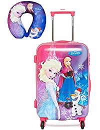 """GAMME Polycarbonate 20"""" Pink Children's Luggage with Free Disney Frozen Character Neck Pillow U Type Pillow Cushion"""