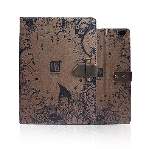 iPad 2/3/4 Hülle,TechCode® Apple iPad 2 iPad 3 iPad 4 Leder Sleep / Wake Funktion Schutztasche im Retrolook mit Standfunktion A09