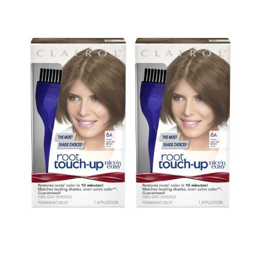 Clairol Nice 'n Easy Root Touch-Up 6A Light Ash Brown (Pack of 2) by Clairol - Clairol Touch-up