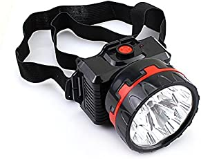 CITRA Metal and PVC 5W Rechargeable Ultra Bright Head LED Torch Lamp (WEJOBsd)