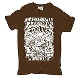 Männer und Herren T-Shirt Tischler Am Anfang war Himmel und Erde