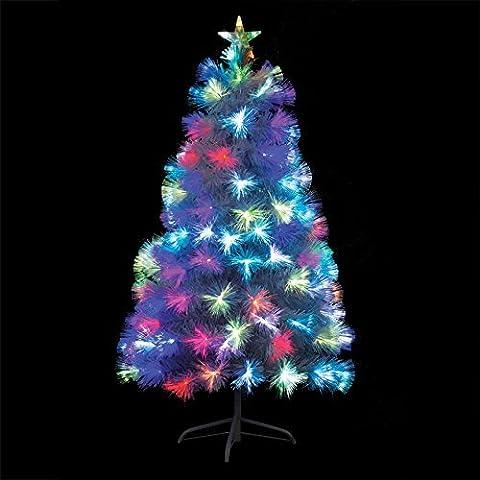 Künstlicher Weihnachtsbaum Glasfaser weiß 120cm
