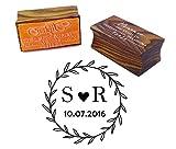 Kundenspezifische Hochzeit Einladung Stempel Holz Mounted Runde Stempel-Verpflichtungs-Geschenk