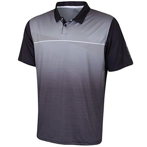 Feuchtigkeit Wicking Golf Polo (Insel grün Herren igts1853Große Polo Shirt, Schwarz/Weiß, L)