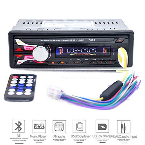 VIGORFLYRUN PARTS LTD 1188B 12V Car Radio Bluetooth 1 Din Car Stereo Player Phone Steering Wheel Remote Control for Phone Car MP3 Player