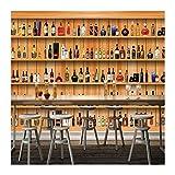 YUANLINGWEI Vintage 3D Persönlichkeit Weinregal Seidentuch Wandbild Geeignet Für Die Bar Ktv Wand,250cm (H) X 330cm (W)