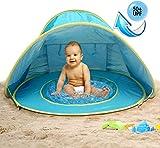 MG MULGORE Tenda a Sdraio Poppiera Portatile a Tendina per Neonati, Tenda da Spiaggia All'aperto Protezione UV Protezioni per Il Sole Piscina per Neonati (Blu)