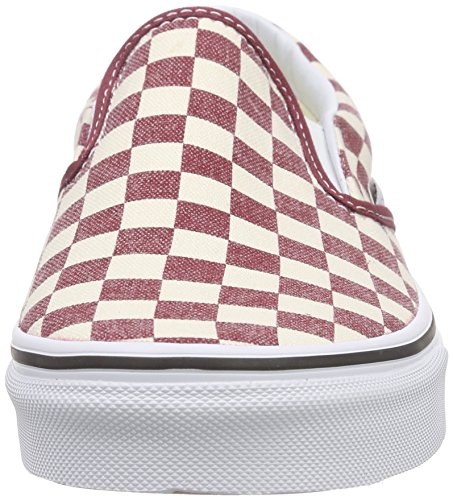 Vans Authentic, Sneakers Basses Mixte Adulte Multicolore (Checkerboard/Rhubarb/White)