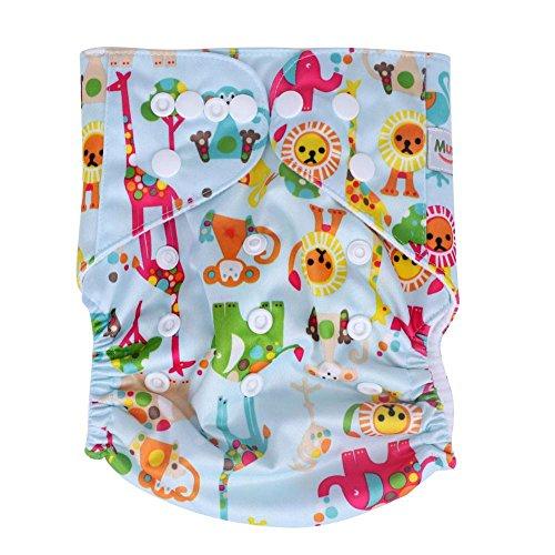 Zerodis El pañal del bebé cubre las bragas del paño lavable reutilizable...