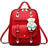 Vintage Stylish Girls School Bag College Bag Casual Backpack(A17) (RED)