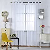 iZUHAUSE® cortinas blancas 100% poliester cortinas para habitacion salon 145*245cm
