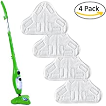 Panni per scopa a vapore, 4pezzi di ricambio in microfibra per pavimento lavabili Pads detergente di pulizia per H2O X5by Favolook, 4 pz