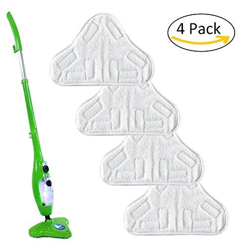 , 4unidades de repuesto mopa eléctrica de vapor gamuza de cubierta del filtro de microfibra piso lavable almohadillas para H2O H20X5por favolook, 4 unidades