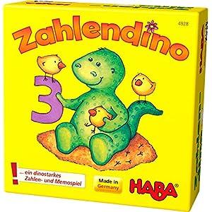 Haba 4928 – Il dinosauro dei numeri, Gioco Memory [importato dalla Germania]