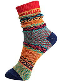 V-SOL 2 pares Hombre Calcetines Vintage Colores Casual Socks Algodón Respirable (5FWZ12@A)