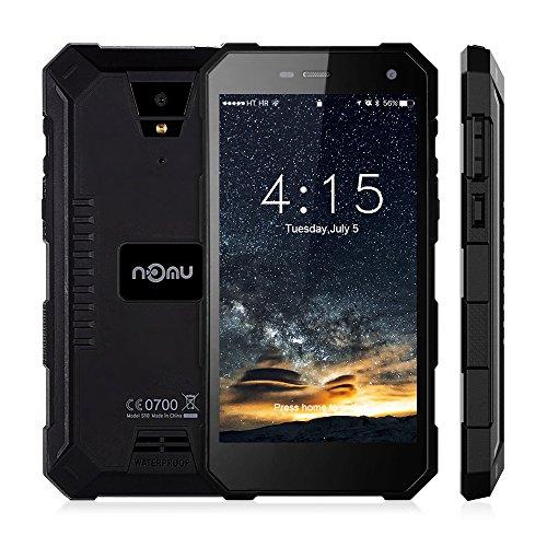 Nomu S10 Smartphone Ohne Vertrag Outdoor Handy mit Dual SIM 5.0 Zoll, 4G Android 6.0, 2GB RAM +16GB ROM, IP68, Quad Core, 5000mAh Akku, 8MP Hauptkamera Wasserdichtes Staubdichtes Stoßfestes (Schwarz)