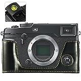 First2savvv XJPT-XPRO2-D01 noir PU cuir étui housse appareil photo numérique pour Fujifilm X-Pro2 . XPro2 + gradienter