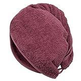 Zollner Handtuch für Haare Haarturban aus Baumwolle, brombeer (weitere verfügbar), Knopfverschluss