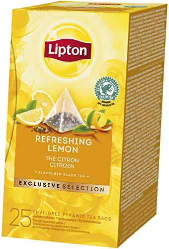 Lipton Zitrone Schwarztee Pyramidbeutel, 2er Pack (2 x 100 g)